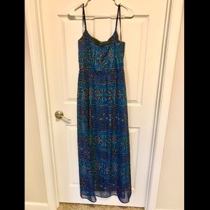 Tribal Pattered Maxi Dress